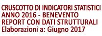 CRUSCOTTO DI INDICATORI STATISTICI anno 2016 - Benevento